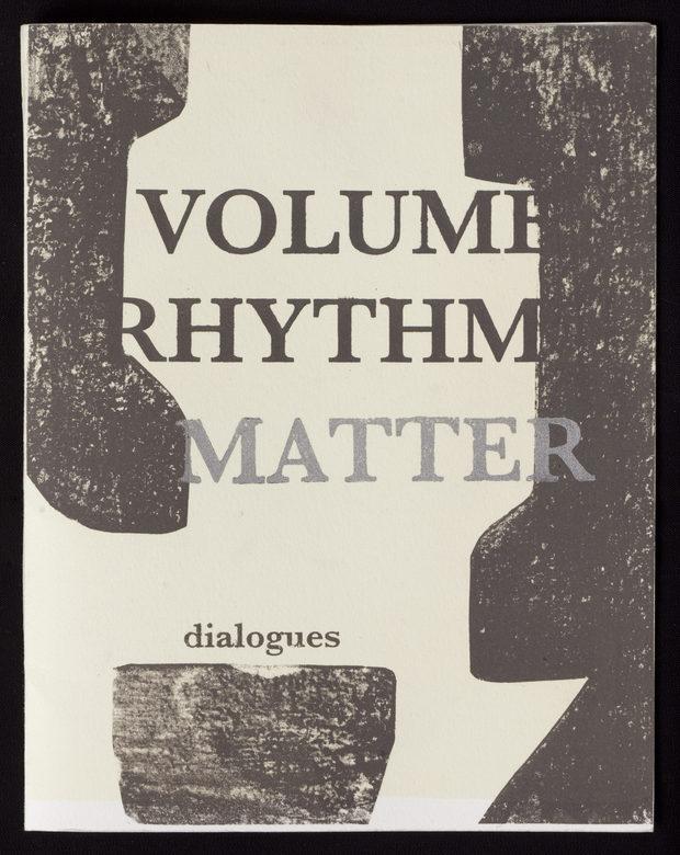 VOLUME RHYTHM MATTER dialogues