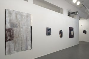Installation shot /Be-bop your visual Acts. Sewn Image (white)